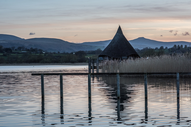 The Crannog and Pen y Fan view from Llangorse Lake